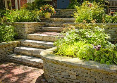 Aménagement murets et escalier